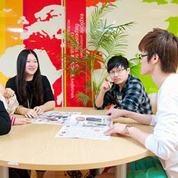 Intercultural Business Communications students